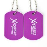 China Plastic Custom Promotional Gifts Dog Tags Rubber Material Printing Custom With Ball Chain on sale