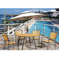 China Wood Plastic Composite Outdoor Leisure Furniture Sets with Tent on sale