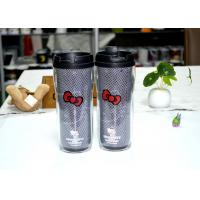 Tea Double Wall Eco Friendly Mugs , Hello Kitty Plastic Mug With Lid Manufactures