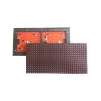 China P10 Outdoor Red LED Display Module , HUB12 Constant Current P10 Single Color LED Module on sale