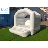 Buy cheap Kids / Baby Pink & White Outdoor Inflatable Bouncer Jumping Castle For Girls from wholesalers