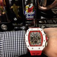 Richard Mille RM001 Ceramic Case Skeleton Rubber Strap Automatic Watch - 1W0010 Manufactures