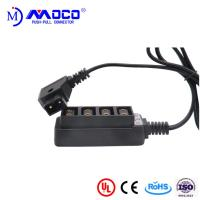 China PPS Insulator Material Medical Cable Assemblies Male To 4 Position Female D- Tap Splitter Box on sale
