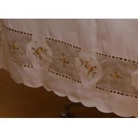 Vintage Style Cut Work Embroidery Table Cloth Manufactures