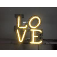 Beautiful LED Lighted Love Letters / Wedding Marquee Letters AC Plug Power Manufactures