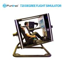 Black 720 Degree VR Flight Simulator For Shopping Mall Large Size Powerful Manufactures