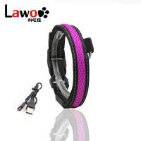 Buy cheap Customized LED Dog Collar Waterproof Luminous Colour Blue USB Rechargeable from wholesalers