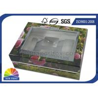 Clear Window Rigid Cuff Box Cosmetic Paper Gift Box Packaging with Blister Tray Manufactures