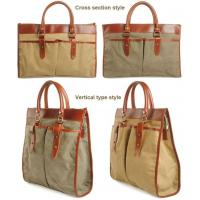 China new European Style Retro Casual Canvas Shoulder Man Bags Business Briefcase Laptop on sale