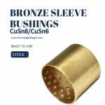 Tin Bronze Din Cusn8 Sleeve Bushings E90 E90F PRM PRMF BMZ FB090 Round Oil Pockets Manufactures