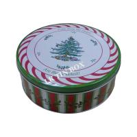 Custom Printed Christmas Holiday Cake Cookie Tin Box Gift Packaging Manufactures