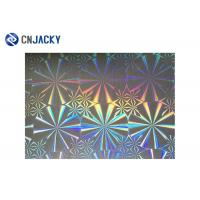China Rainbow Color Smart Card Material , Holographic Plastic Film Overlay For ID Card on sale