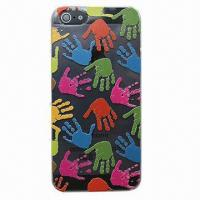 Cellphone Case for iPhone 5, Made of PC Material, Palm Design, OEM/ODM Service Welcomed Manufactures