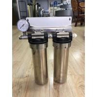 China Two Stage Under Sink 10 Stainless Steel Water Filter Water Purifier With Pressure Gauge on sale