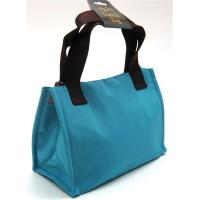 INSULATED LUNCH BAG ~ LUNCH TOTE TURQUOISE & BROWN ~ MEDIUM TOTE ~ NEW Manufactures