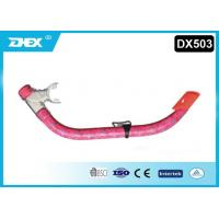 Pink Silicone Scuba Diving Snorkel For 7-12 Years Old Children Manufactures
