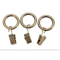 Iron curtain pole rings with clips Manufactures