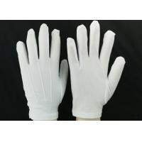 Bleached White Lint Free Gloves 23g / Pair Weight 100D Yarn Good Moisture Absorbency Manufactures