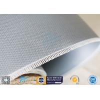 Quality Double - Sides 1.5m*50m 0.45mm Gray Silicone Coated Fiberglass Fabric Welding Curtain for sale
