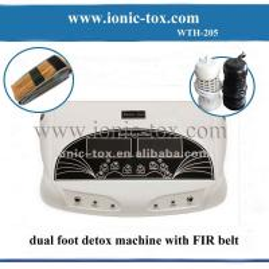 Dual ion detox foot bath with FIR belt relax foot spa bath
