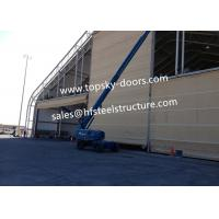 Hoist Up Fabric Doors With Mullions Multiple Door Versions Withstands High Wind Loads Manufactures