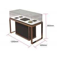 Brown + Mirror Rose Gold Jewelry Display Cases , Diamond Jewelers Manufactures