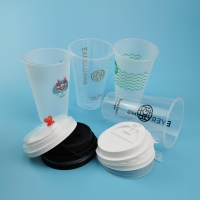 China PP Injection 16oz  20oz 24oz Disposable Plastic Boba Cups on sale