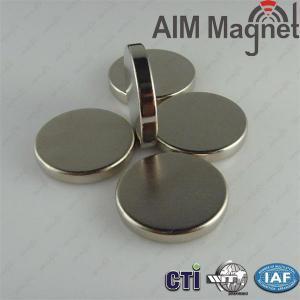 China Diameter 25mm x tickness 4mm N38 Nickel coating neodymium magnets on sale