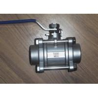 Quality 3-pc clamped-end stainless steel ball valve 1000wog wcb water oil gas for sale