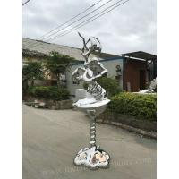 Antique Style Famous Abstract Sculptures / Outdoor Metal Art Sculptures For Yard Manufactures