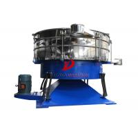 China Round Compost Tumbler Screener Carbon Steel For Sieving Granular Materials on sale