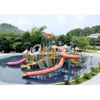 Commercial Medium Water House Aqua Playground Platform With Water Slide for Water House Manufactures