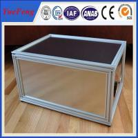 New arrival! Aluminum extrusions 6063 6061 t5 t6, Anodized silver Aluminum cabinet frame Manufactures