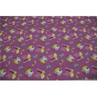 """Light Purple Pu Artificial Leather Pink Pig Pattern 54"""" Width With 0.4mm Thickness Manufactures"""