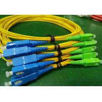 Buy cheap SC Apc To SC Upc Fiber Optic Patch Cord Single Mode Simplex Yellow Color Durable from wholesalers