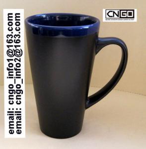 Glazed/Porcelain fashion big Chalk Mug wholesale16oz Ceramic Chalk Mugs china chalk mug Manufactures