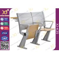 University Steel Book Holder Lecture Room Seating With Writing Desk Manufactures