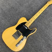 Yellow Ash TL Wax Potted Electric Guitar High Quality Pickups bright and sustaining Sound Practice Maple Neck Tele Guita Manufactures