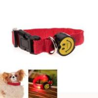 New Red LED Flashing Dog Collars With Cute Pattern Manufactures