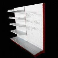 China Wall Shelving with Perforated Back Panel and Powder Coating Surface on sale