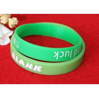 Washable Imprinted Rubber Bracelets , Personalized Silicone Wristbands Non Toxic Manufactures