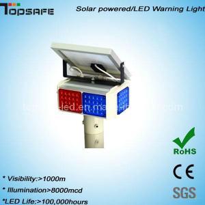 New Design LED Solar Powered Warning Flshing Light Manufactures