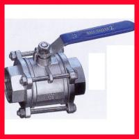 China DN15 ~DN100 Floating Type Ball Valve / Stainless Steel Ball Valve Compact Structure on sale