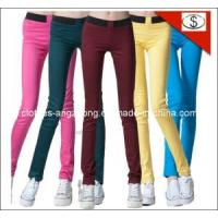 China Elastic Waist Candy Color Slim Multicolour Pencil Pants Legging Brand Jeans on sale