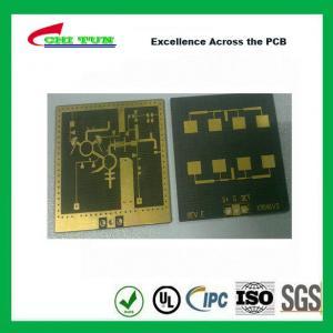 China 3 Layer TLY-9+HT1.5 SOFT GOLD Smt PCB Assembly Service with Black Solder on sale