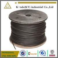 China Steel Wire Rope coated with Asphalt/black steel wire rope /black galvanized steel wire rope on sale