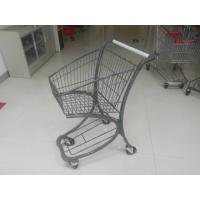 Buy cheap 40L Steel Tube Airport / Supermarket Shopping Trolley With Advertisement Board from wholesalers