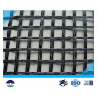 Quality 80KN/M Black Fiberglass Geogrid with High Strength for Retaining Wall for sale
