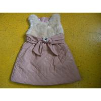 Big Bow Waist 3 Year Little Girls Winter Dresses Sleeveless With Faux Leather Mini Skirt Manufactures