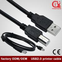 1.5 m Black USB 2.0 printer cable copper wire cable with ferrite ring data cable for print Manufactures